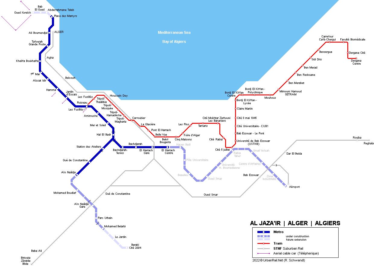 Project Management Subway Map.Urbanrail Net Africa Algeria Algiers Metro