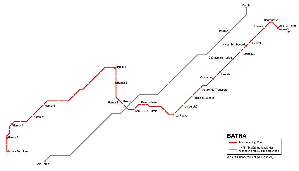 UrbanRail.Net > Africa > Algeria > Batna Tram