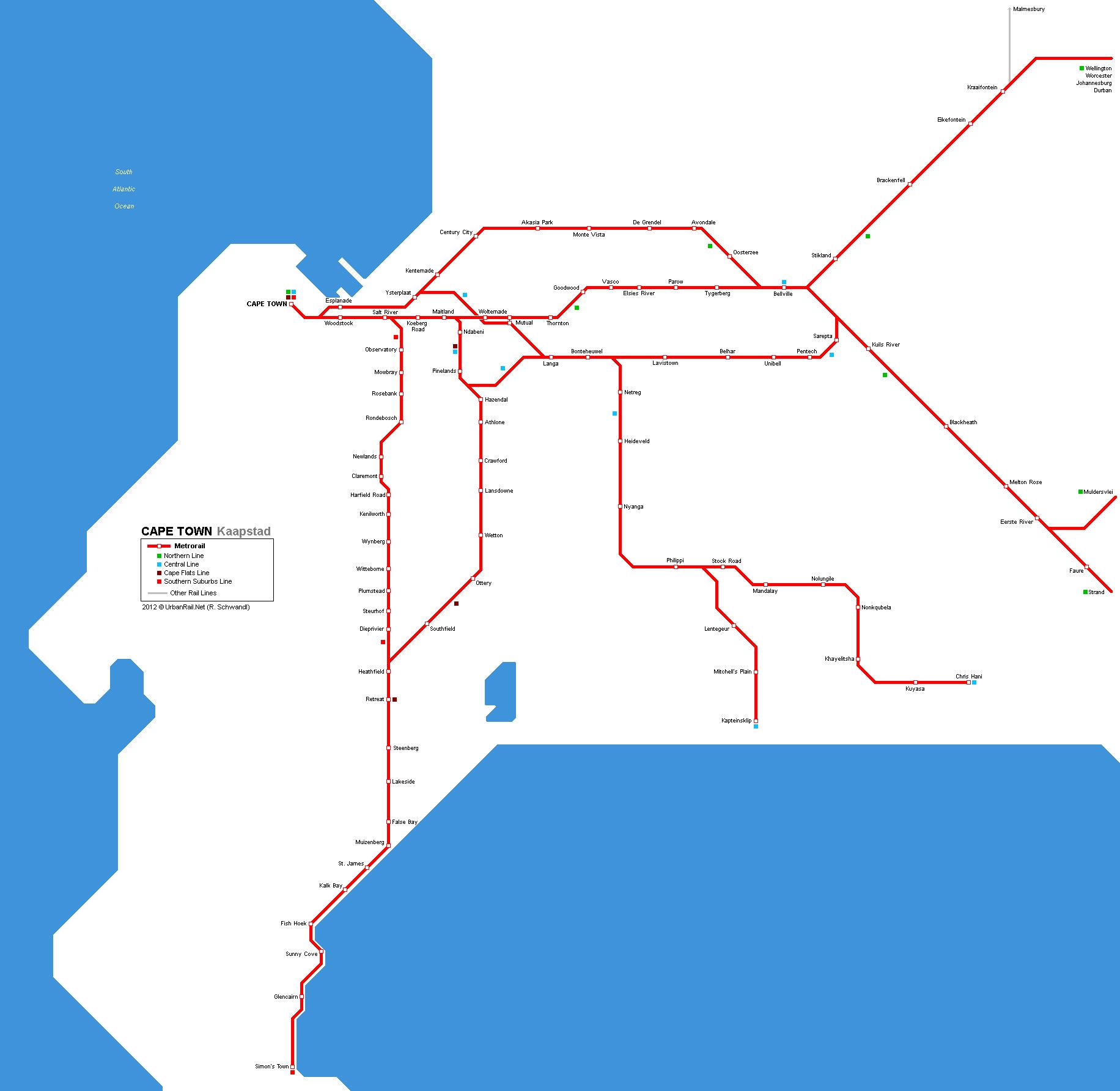 UrbanRailNet Africa South Africa Cape Town Metrorail