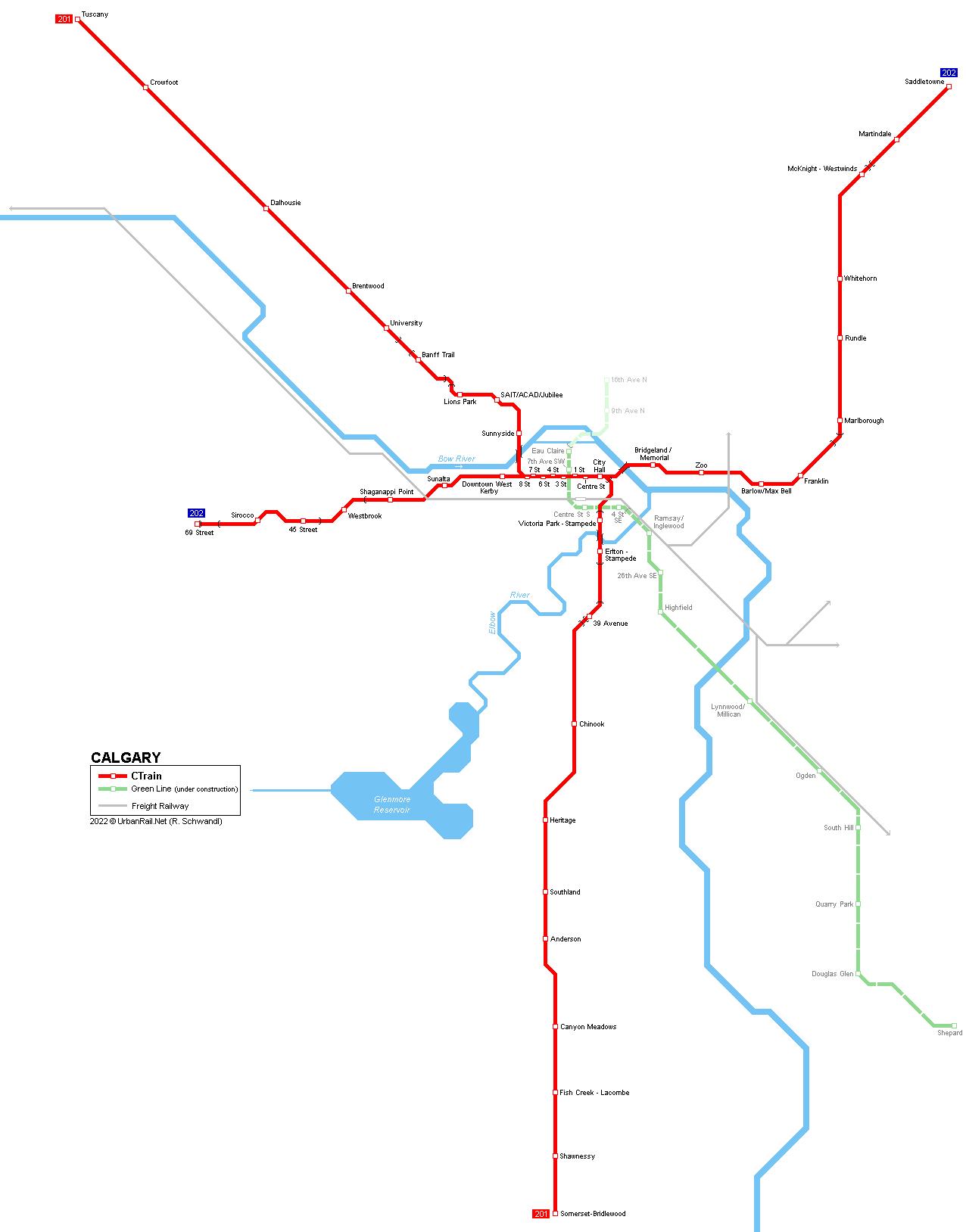Calgary Subway Map.Urbanrail Net Canada Alberta Calgary Light Rail