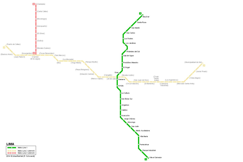 UrbanRailNet South America Peru Lima Metro