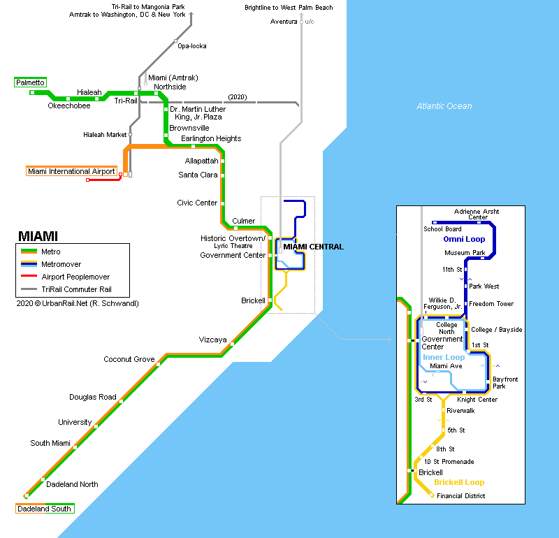 UrbanRail.Net > North America > USA > Florida > Miami Metro Rail and on