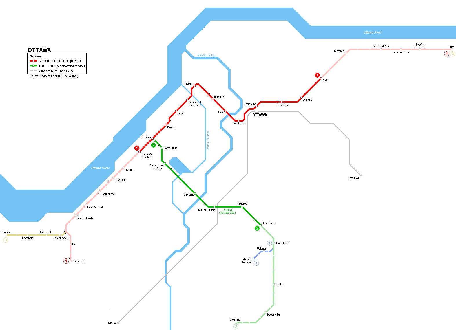 Map Of Canada Confederation.Urbanrail Net North America Canada Ontario Ottawa Light Rail
