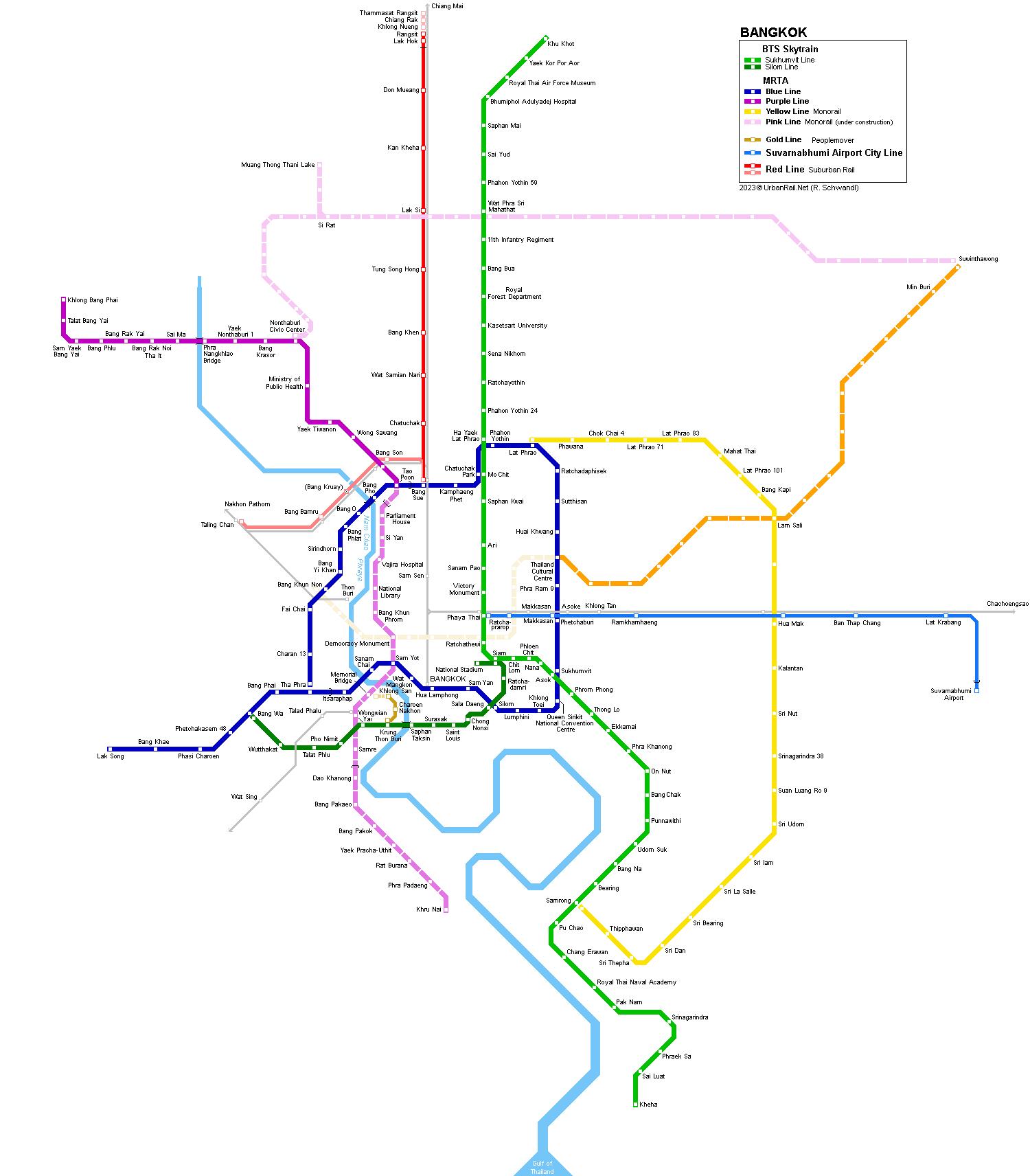 UrbanRailNet Asia Thailand Bangkok Metro