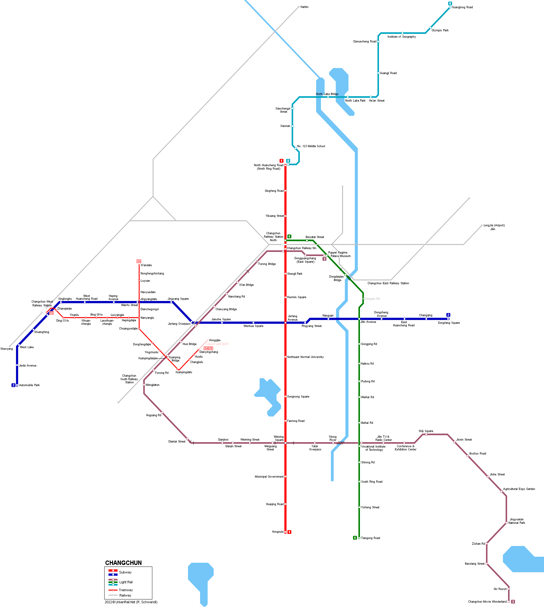 Beijing Subway Map 2018 Pdf.Urbanrail Net Asia China Changchun Metro