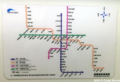 Chengdu Subway Map New Station.Urbanrail Net Asia China Chengdu Metro