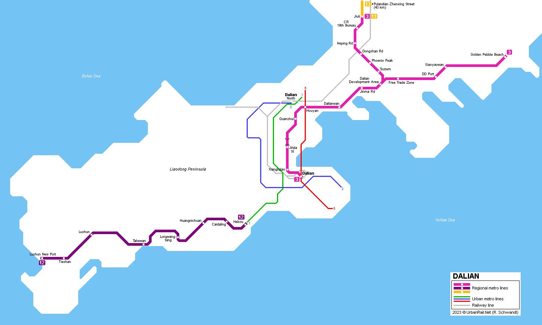 UrbanRailNet Asia China Dalian Rapid Transit