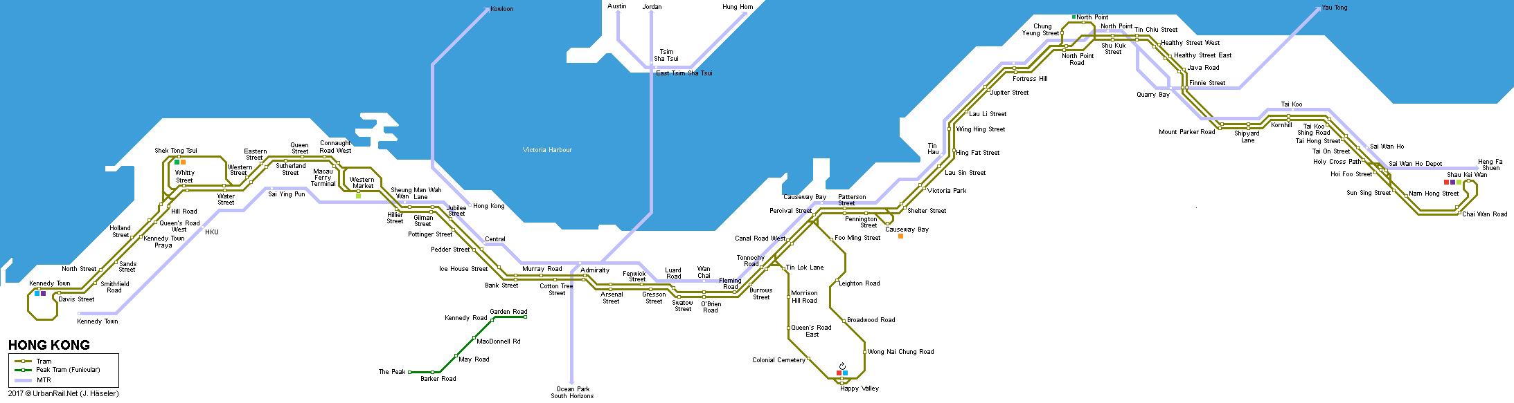 Subway Map Of Hong Kong.Urbanrail Net Asia Hong Kong Mass Transit Railway