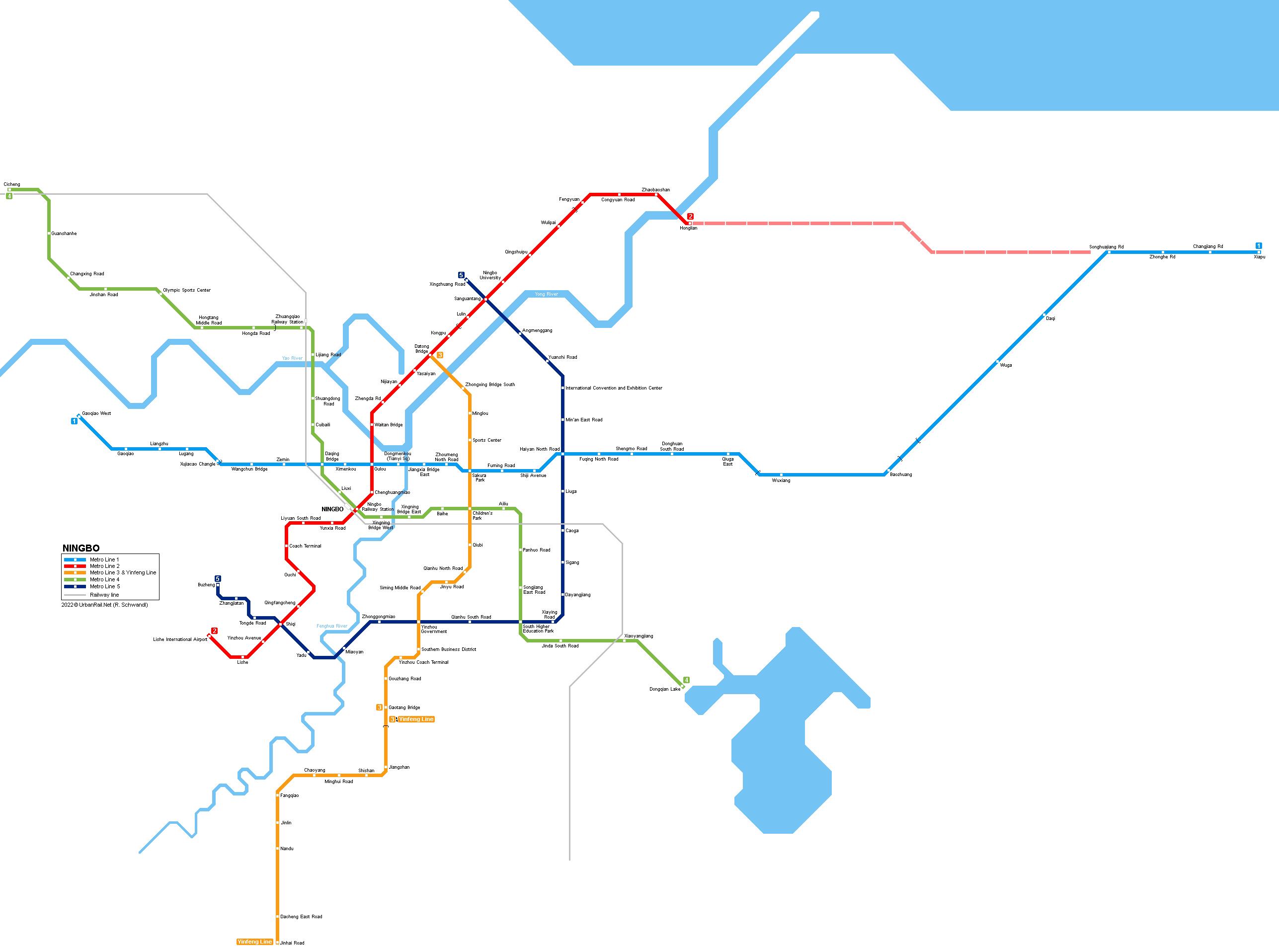 Hangzhou Subway Map.Urbanrail Net Asia China Ningbo Metro