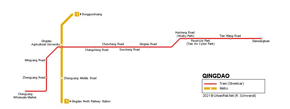 UrbanRail.Net > Asia > China > Qingdao Chengyang Tram