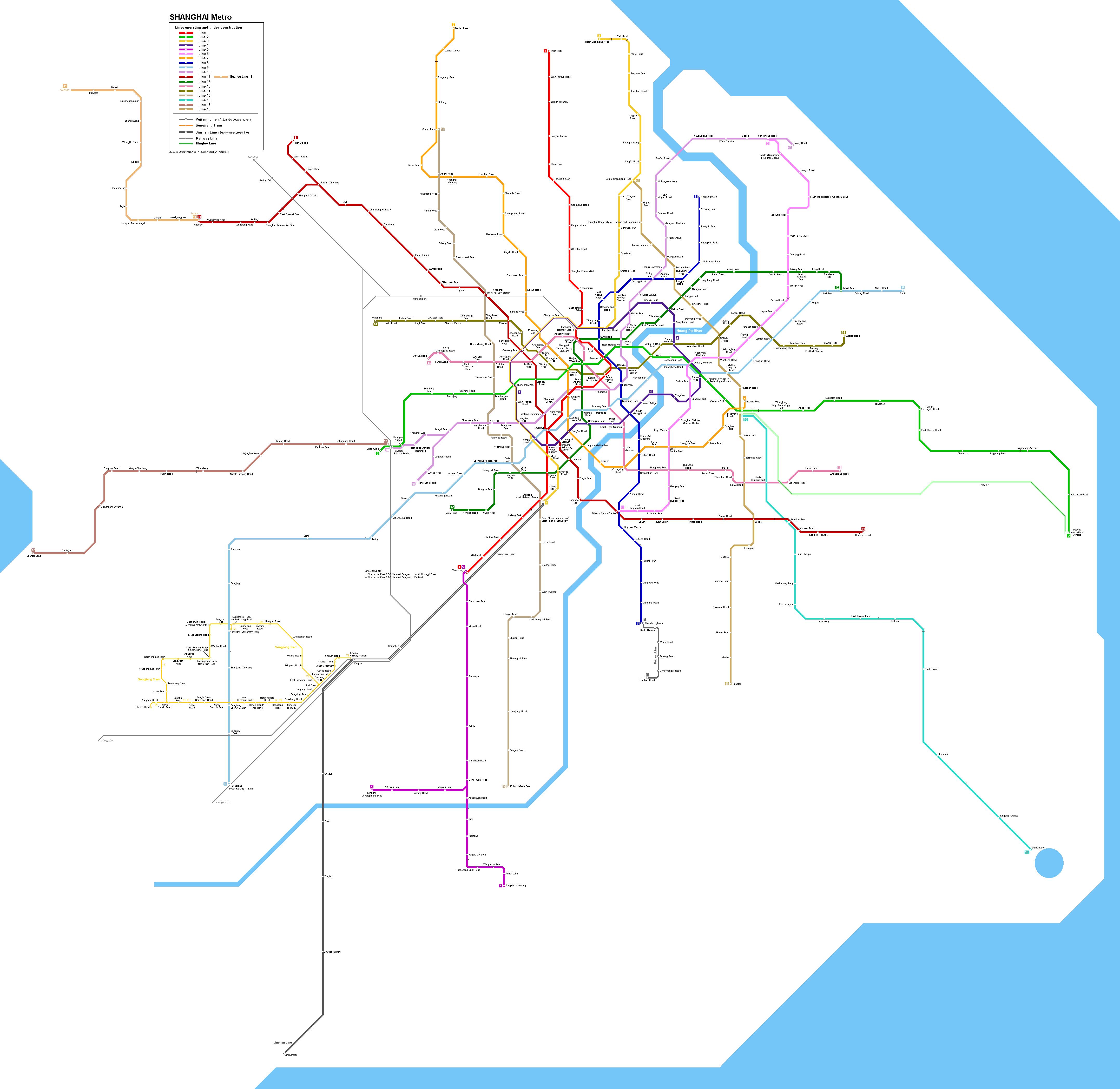 UrbanRailNet China Shanghai Metro Network incl future lines