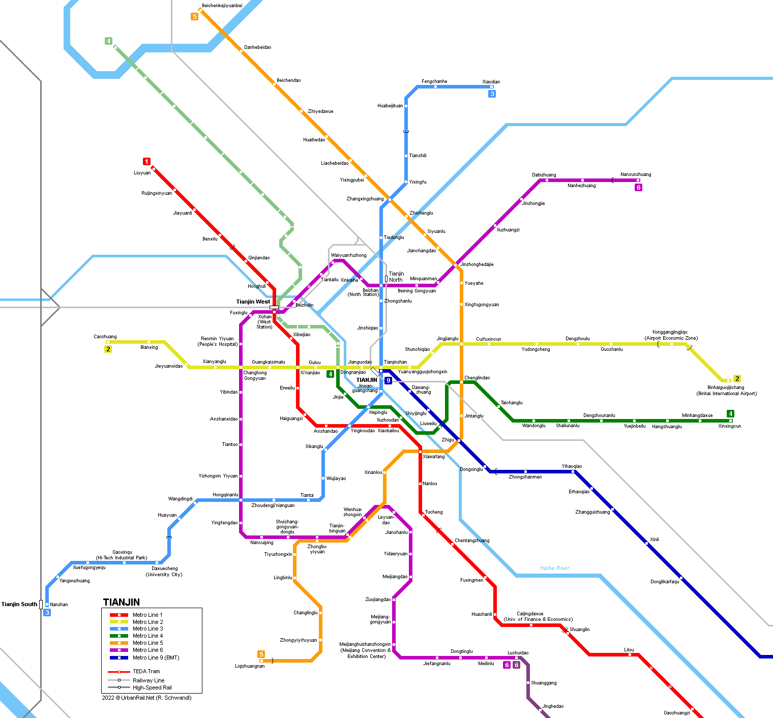 Urbanrail Net Asia China Tianjin Tientsin Subway