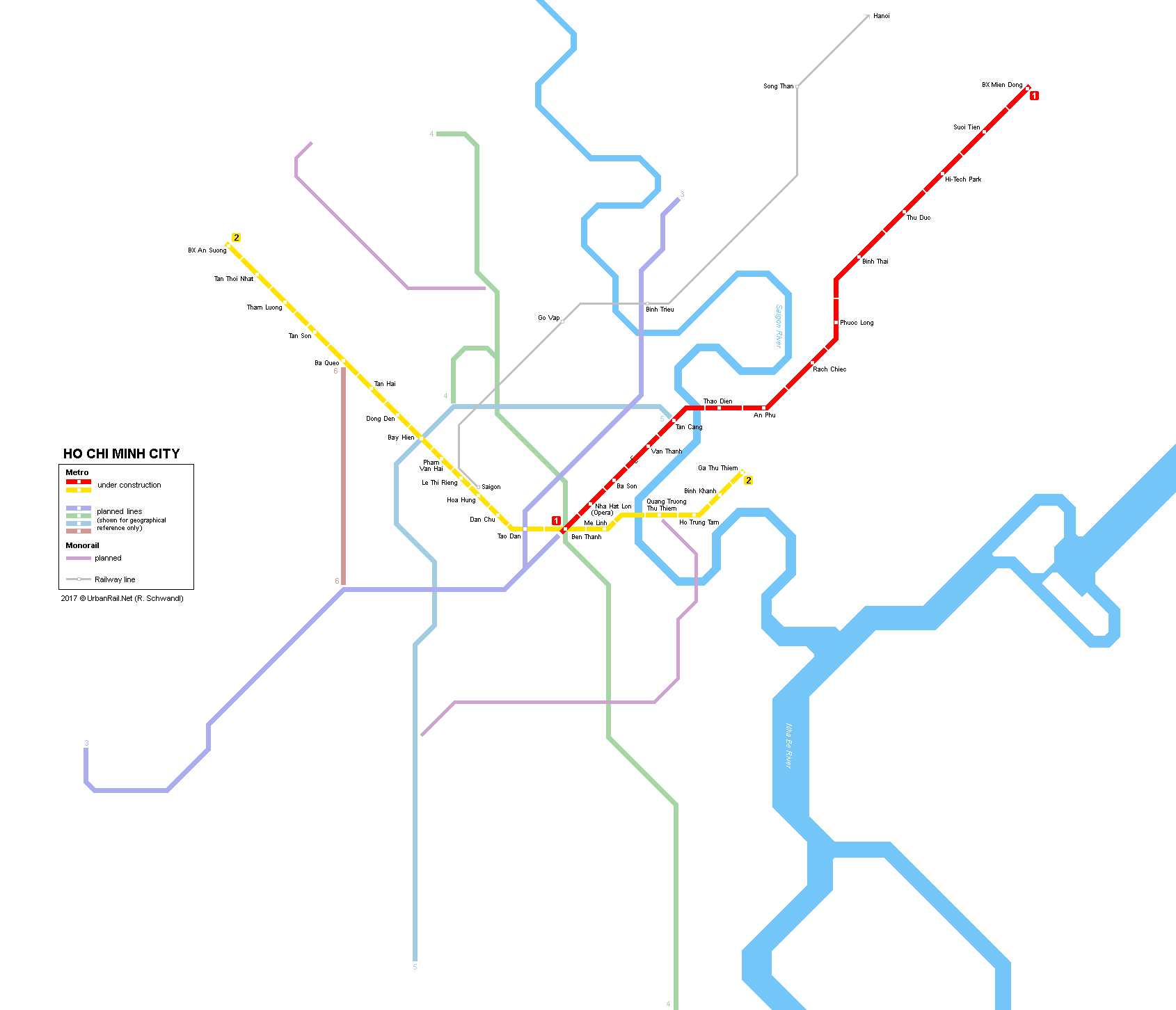 Ho Chi Minh Vietnam Map.Urbanrail Net Asia Vietnam Ho Chi Minh City Metro