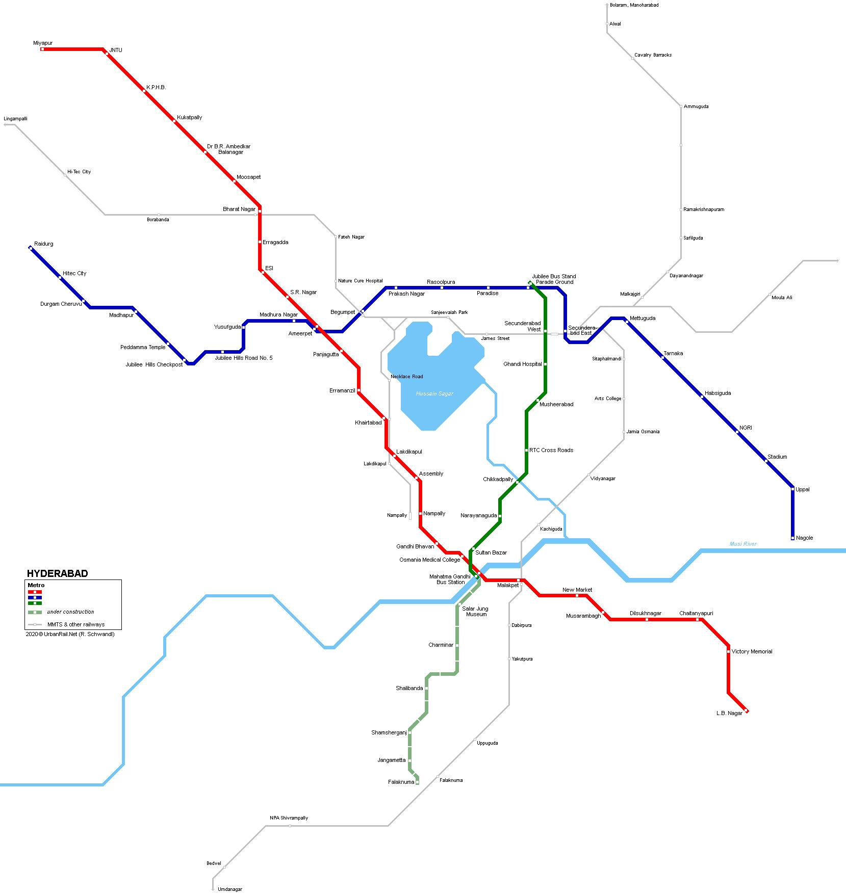 Where Is Hyderabad Located In India Map.Urbanrail Net Asia India Telangana Hyderabad Metro