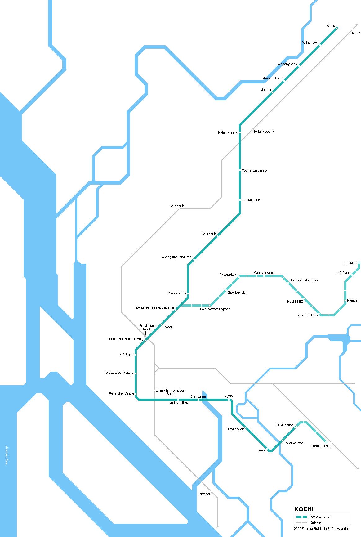 Urbanrail Net Asia India Kerala Kochi Metro