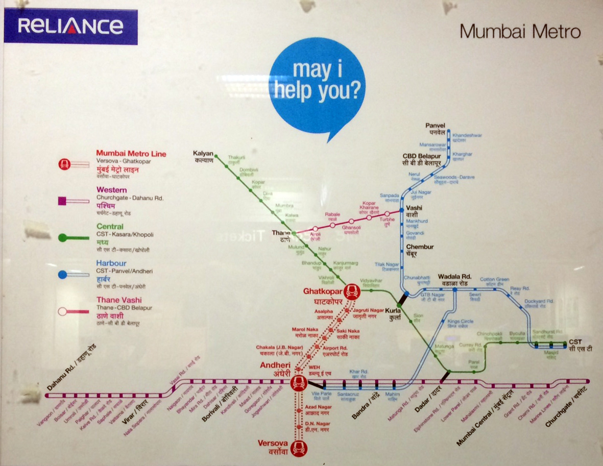 Mumbai Subway Map.Urbanrail Net Asia India Mumbai Metro Rail