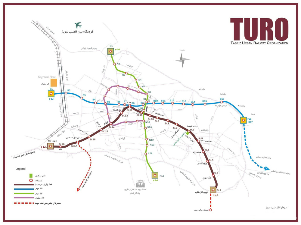 UrbanRailNet Asia Iran Tabriz Metro