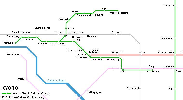 Urbanrail Net Asia Japan Kyoto Tram Keifuku Electric Railroad