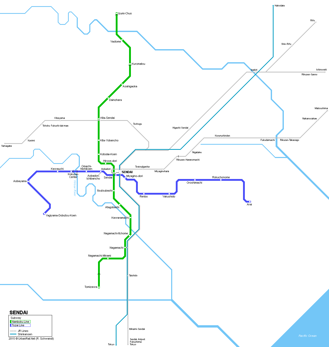 UrbanRailNet Asia Japan Sendai Metro