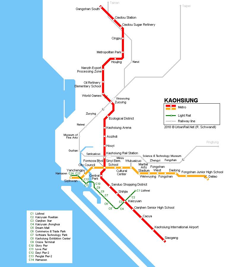 UrbanRail Net > Asia > Taiwan > Kaohsiung Metro