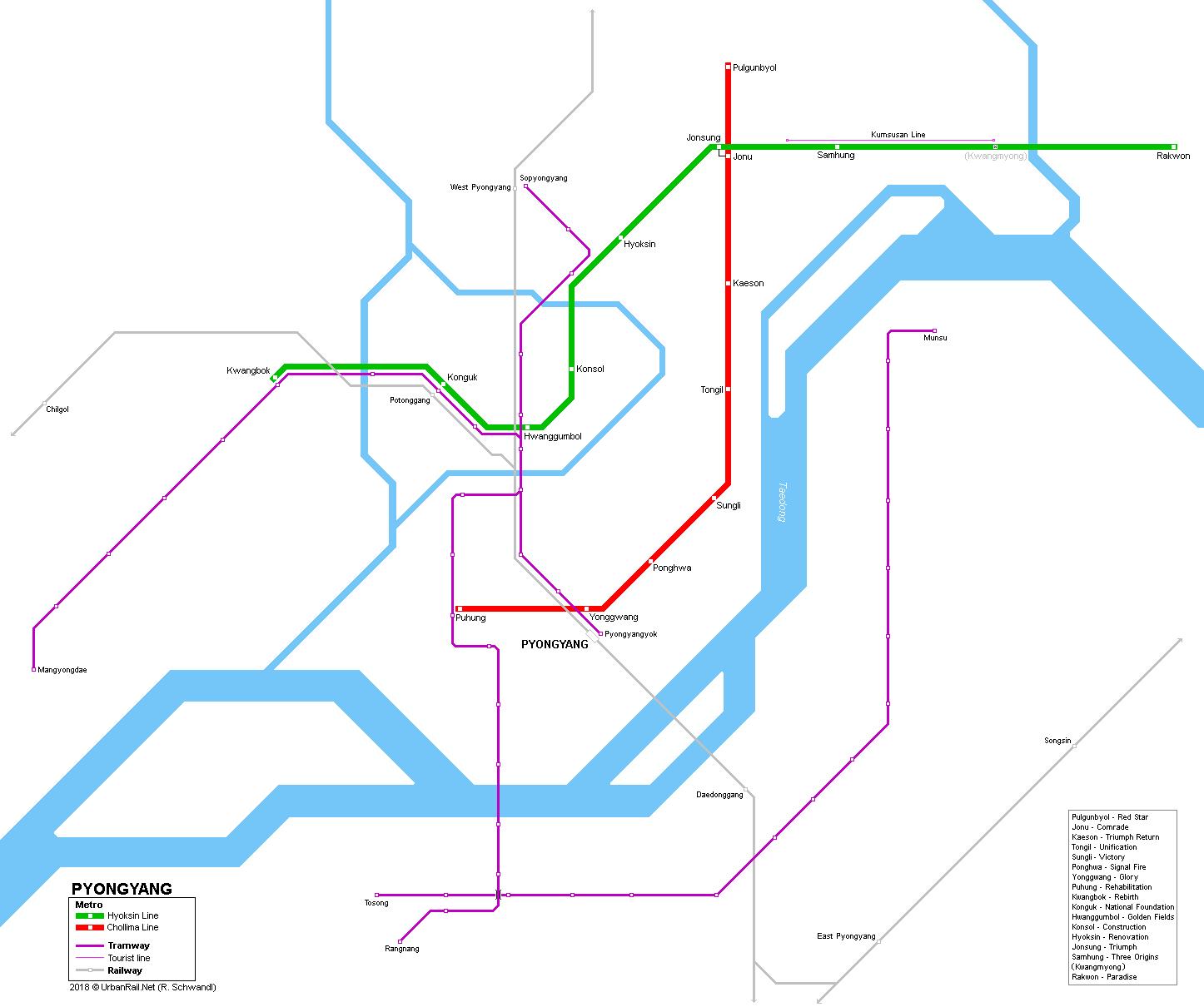 Urbanrail Net Asia North Korea Pyongyang Metro