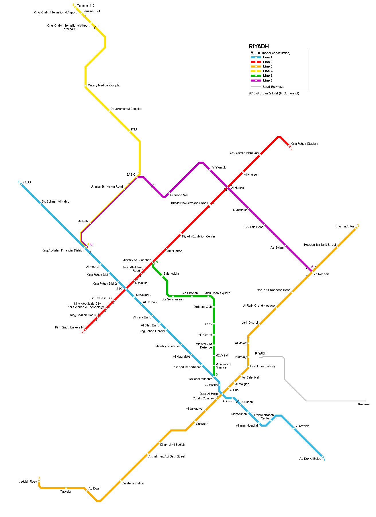 UrbanRail Net > Asia > Saudi Arabia > Riyadh Metro