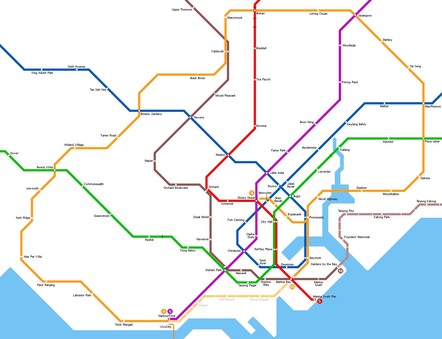 Mrt map singapore 2019