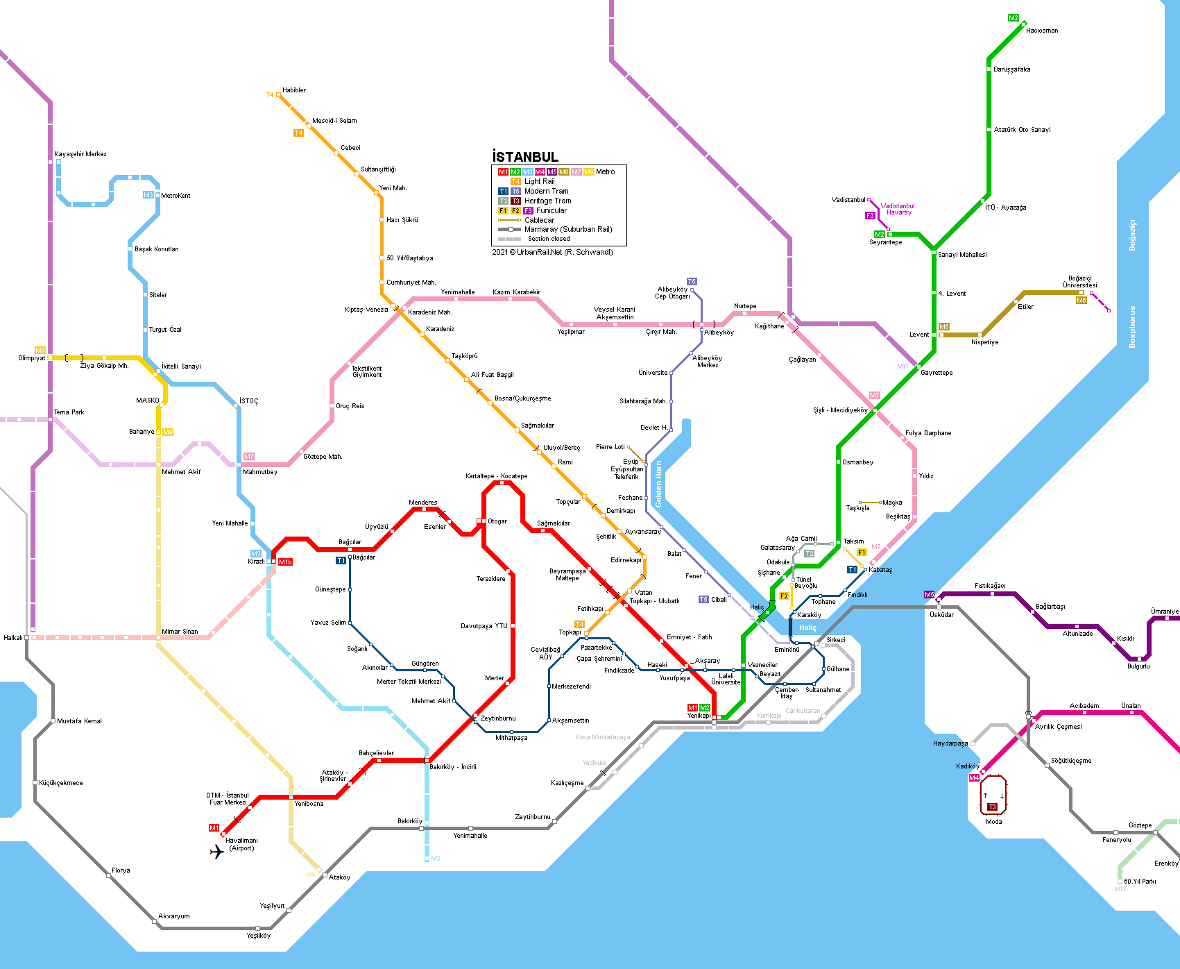Istanbul Subway Map 2015.Urbanrail Net Europe Turkey Istanbul Metro