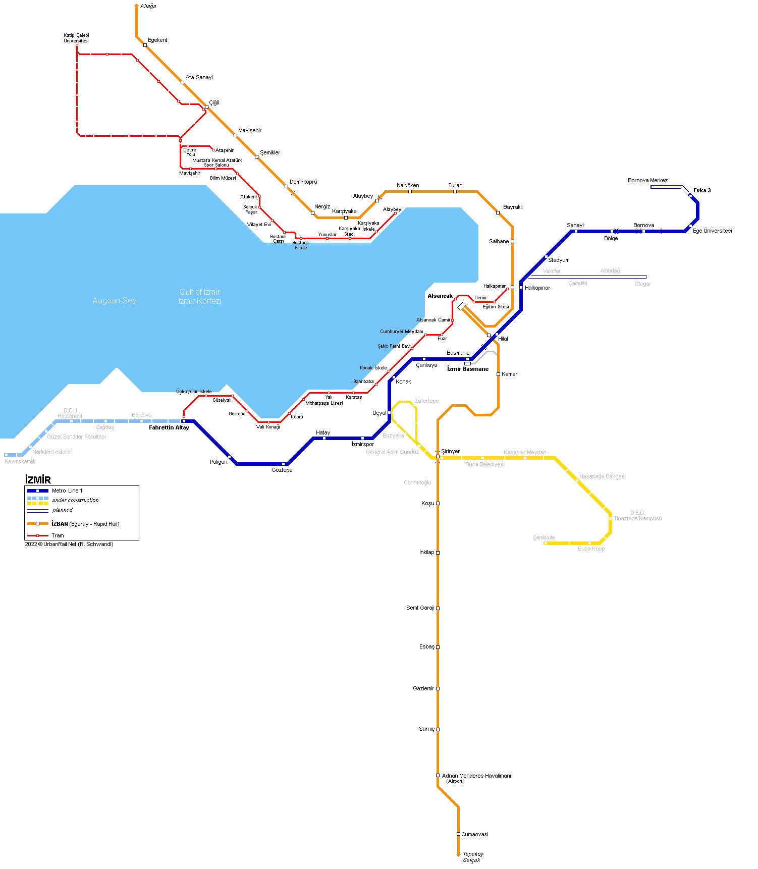 UrbanRailNet Asia Turkey Izmir Metro