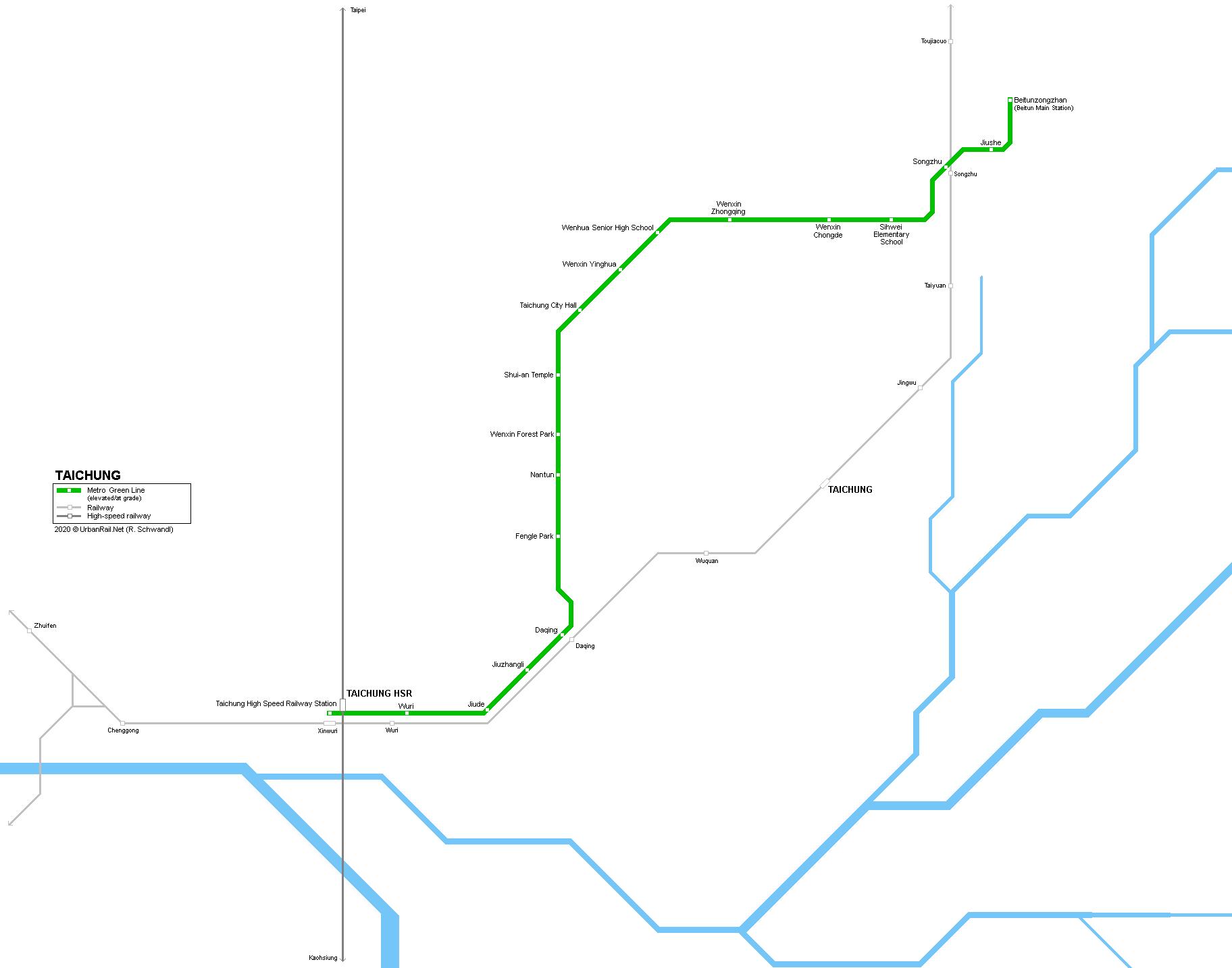 Picture of: Urbanrail Net Asia Taiwan Taichung Metro
