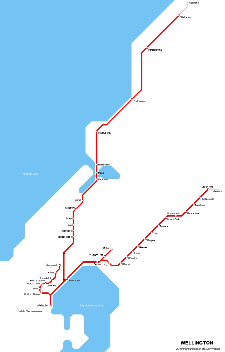 UrbanRailNet Oceania New Zealand Wellington Tranz Metro