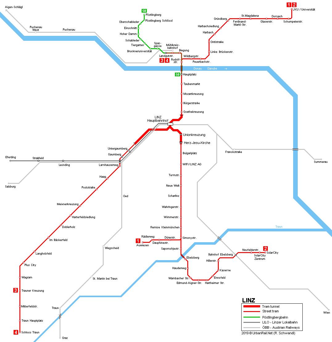 Linz: UrbanRail.Net > Europe > Austria > Linz Tram