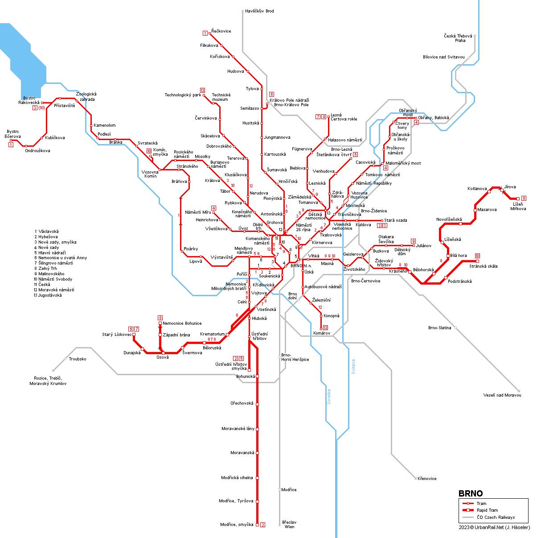 Urbanrail Net Gt Europe Gt Czech Republic Gt Brno Tram