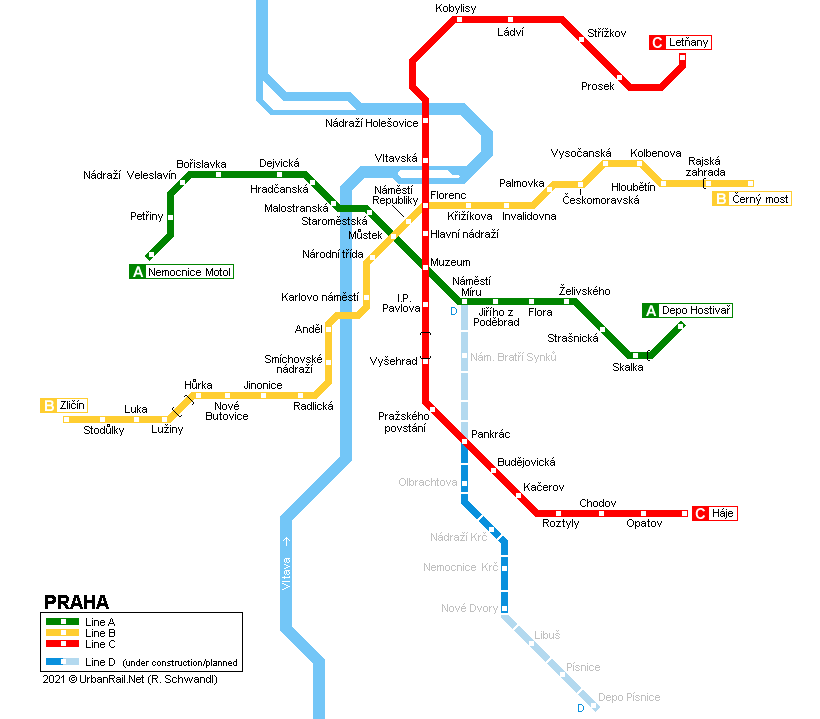 Urbanrail Net Europe Czech Republic Prague Praha Metro