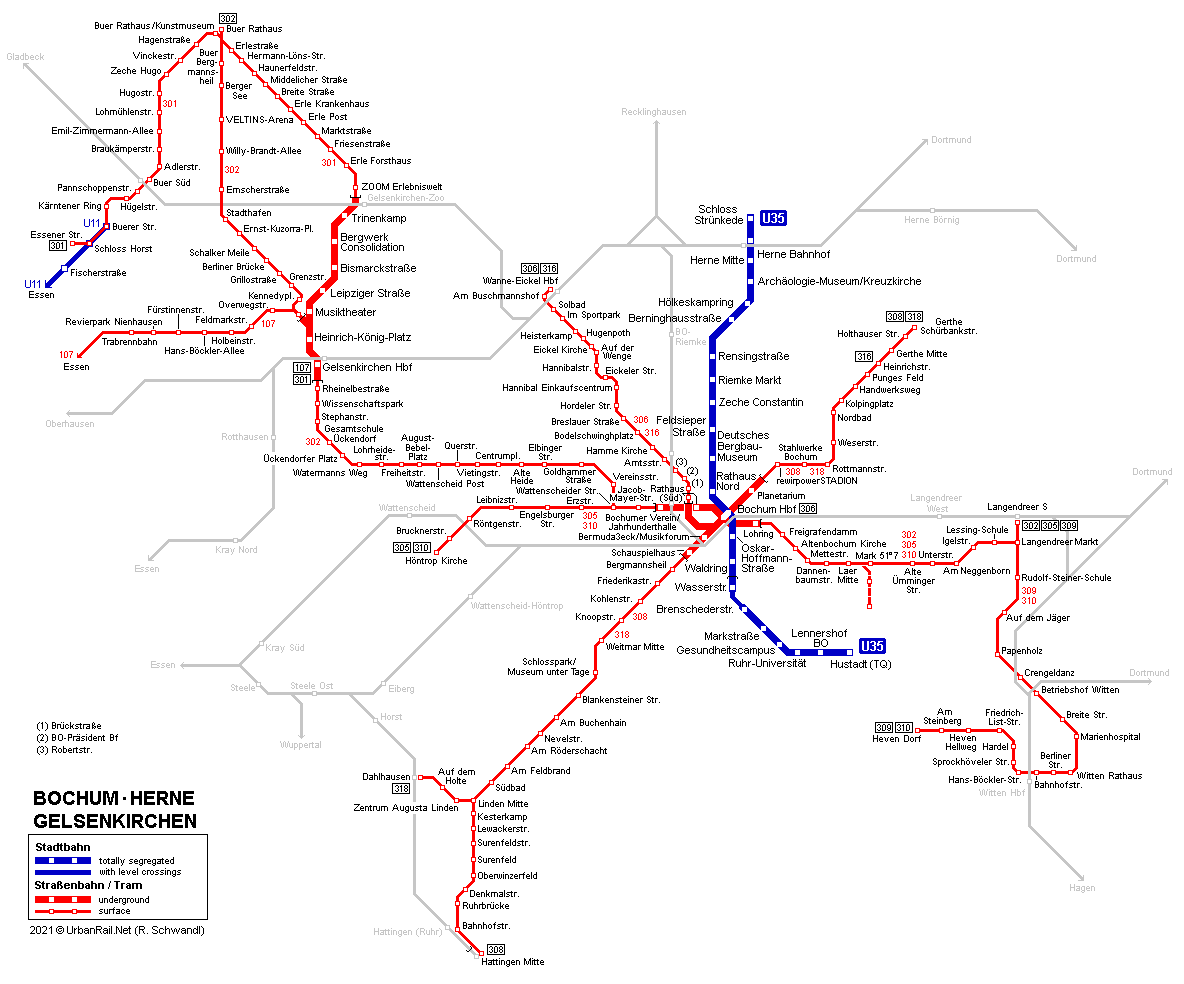 Map Of Germany Gelsenkirchen.Urbanrail Net Europe Germany Bochum Herne Gelsenkirchen