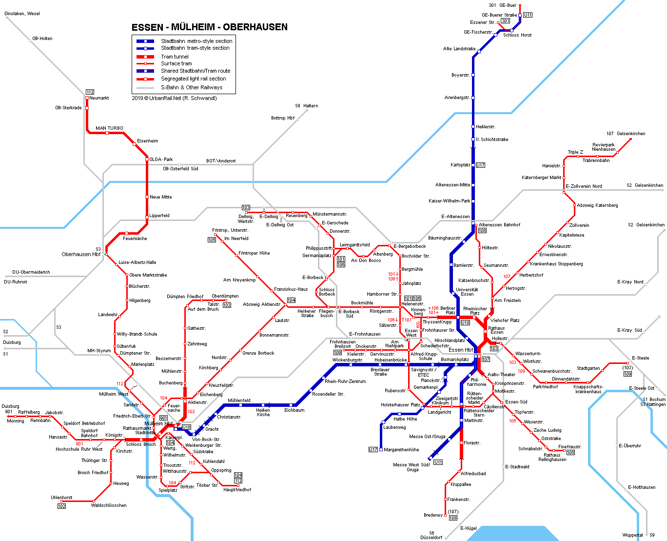Map Of Germany Gelsenkirchen.Urbanrail Net Europe Germany Essen Mulheim Stadtbahn