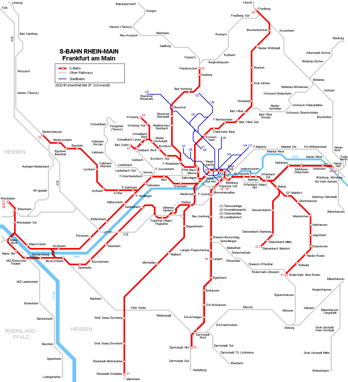 UrbanRail.Net > Europe > Germany > FRANKFURT S-Bahn Rhein-Main on
