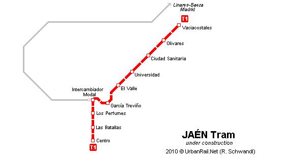 Map Of Spain Jaen.Urbanrail Net Europe Spain Andalucia Jaen Tram Tranvia