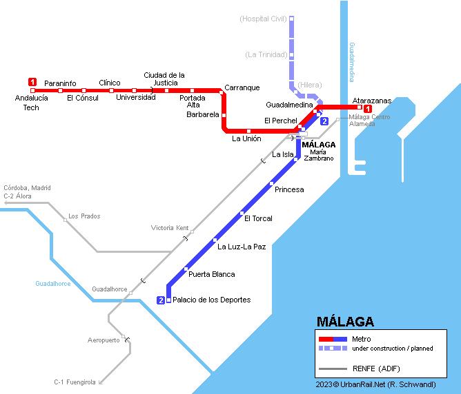 Urbanrail Net Europe Spain Metro De Malaga