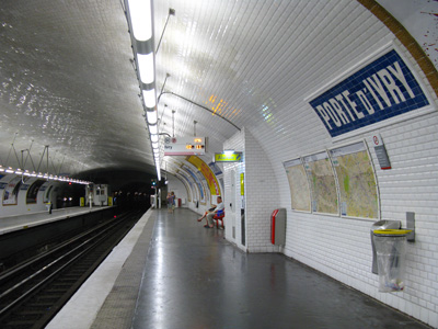 M tro de paris ligne 7 - Metro porte d ivry ...