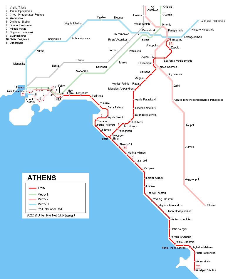 Urbanrail Net Europe Greece Athens Athina Tram