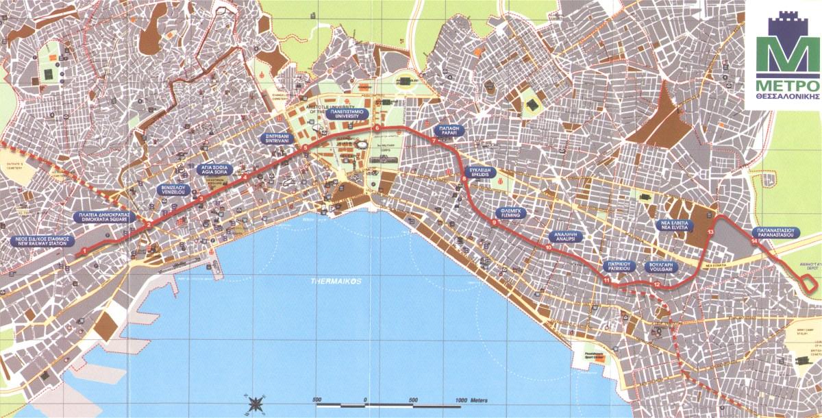 Urbanrail Net Europe Greece Thessaloniki Metro