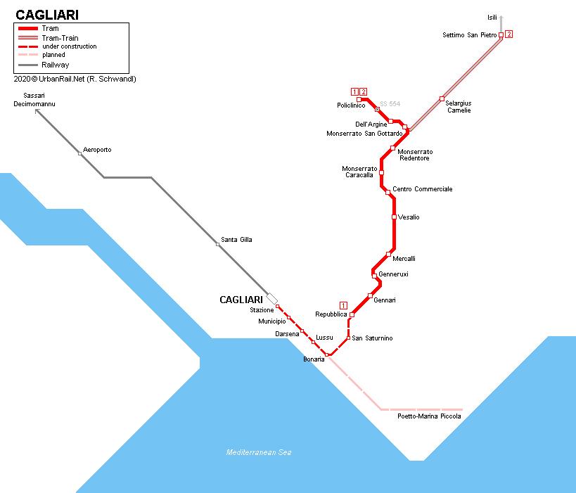 Urbanrail Net Europe Italy Sardegna Cagliari Tram