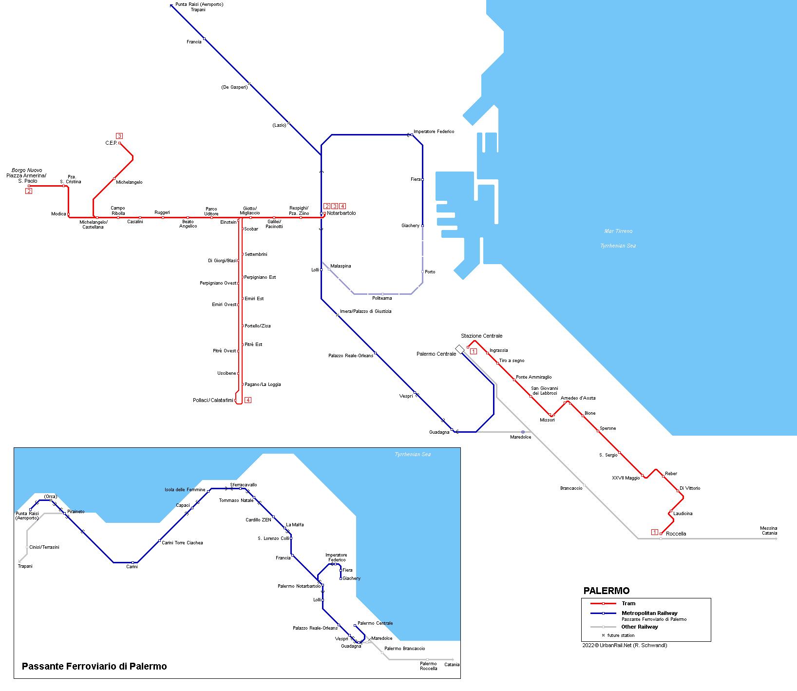 Urbanrail Net Europe Italy Sicily Palermo Tram And Metropolitana