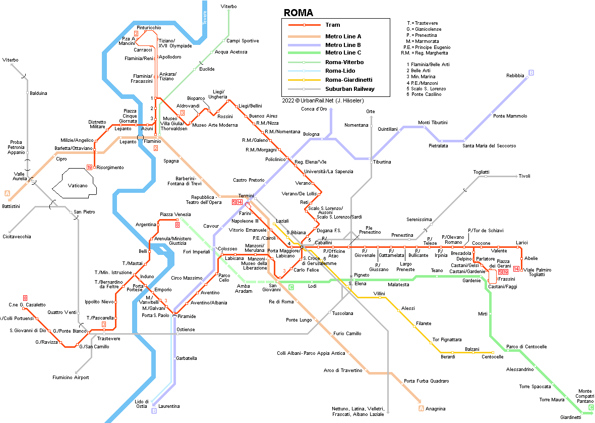 Cartina Tram Roma.Urbanrail Net Europe Italy Roma Tram