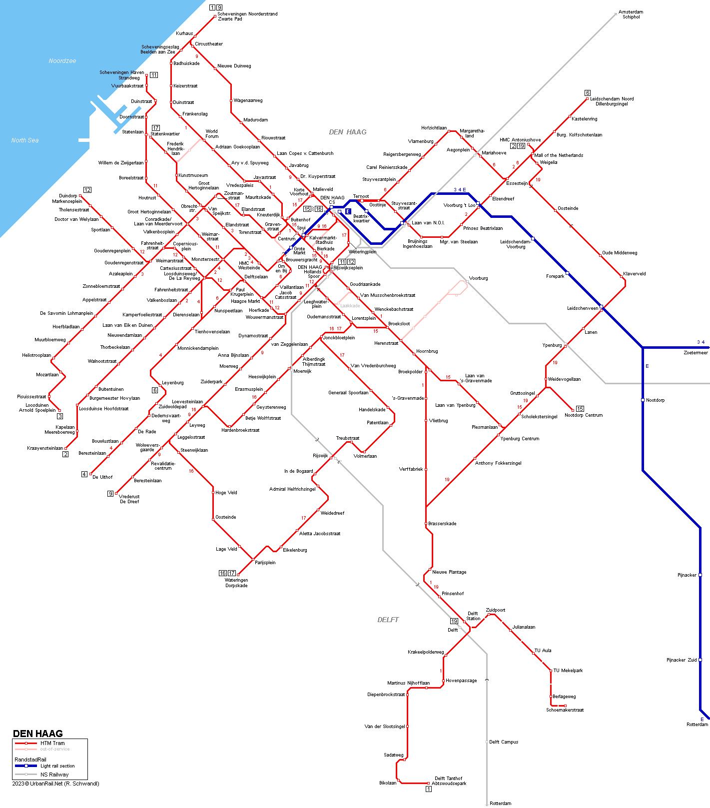 Worksheet. UrbanRailNet  Europe  Netherlands  Den Haag Tram  RandstadRail