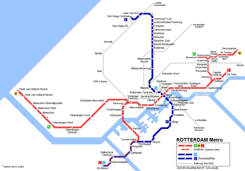 UrbanRailNet Europe Netherlands ROTTERDAM Metro