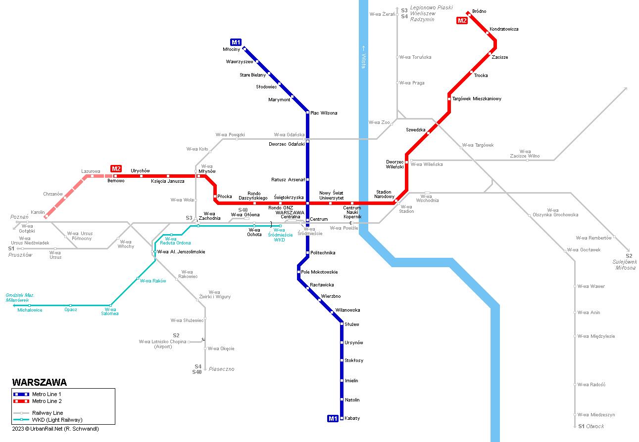 UrbanRail.Net > Europe > Poland > Metro Warszawskie - Warsaw Metro ...