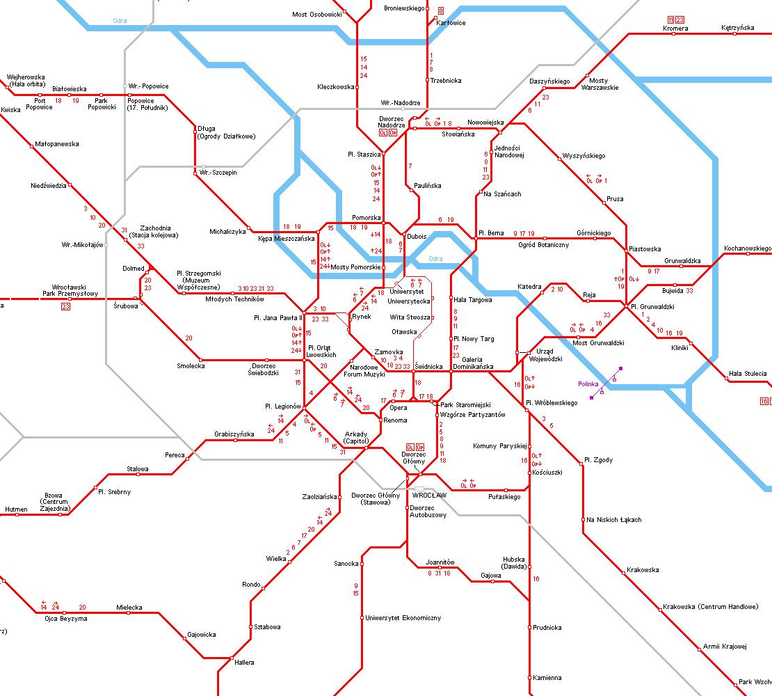 UrbanRailNet Europe Poland Lower Silesia Wroclaw Tram
