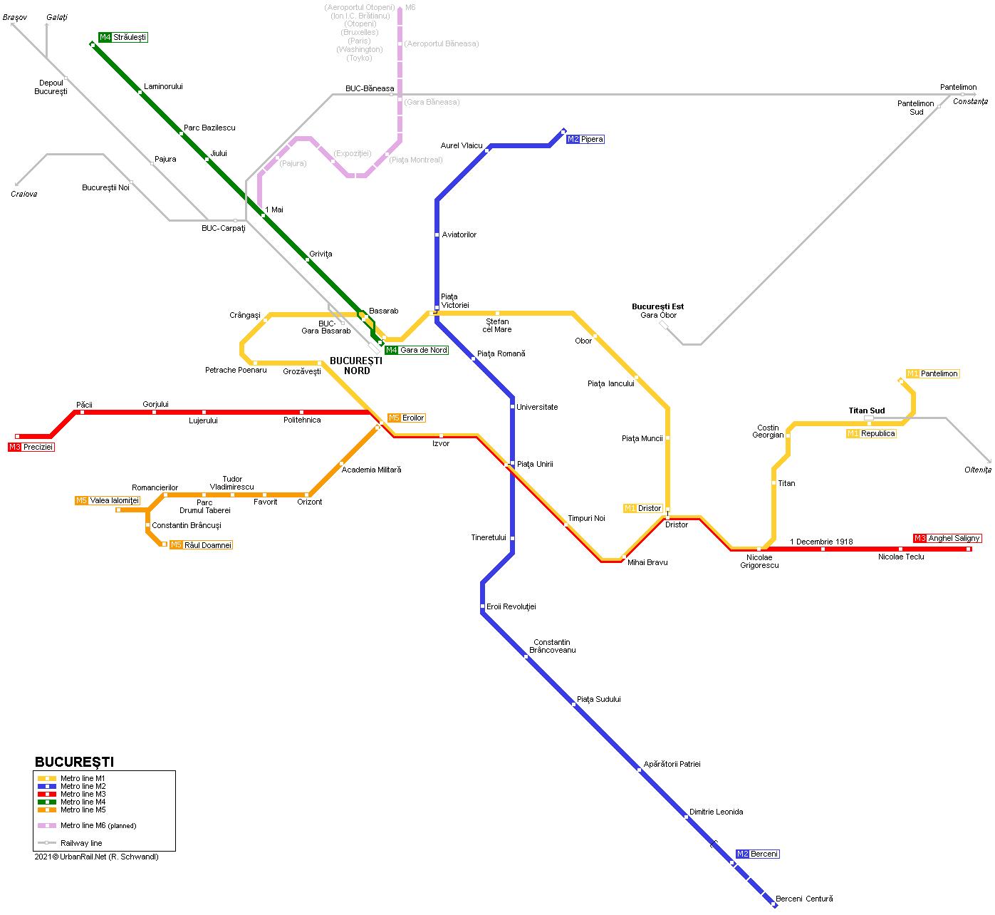UrbanRail.Net > Europe > Romania > BUCHAREST Metro